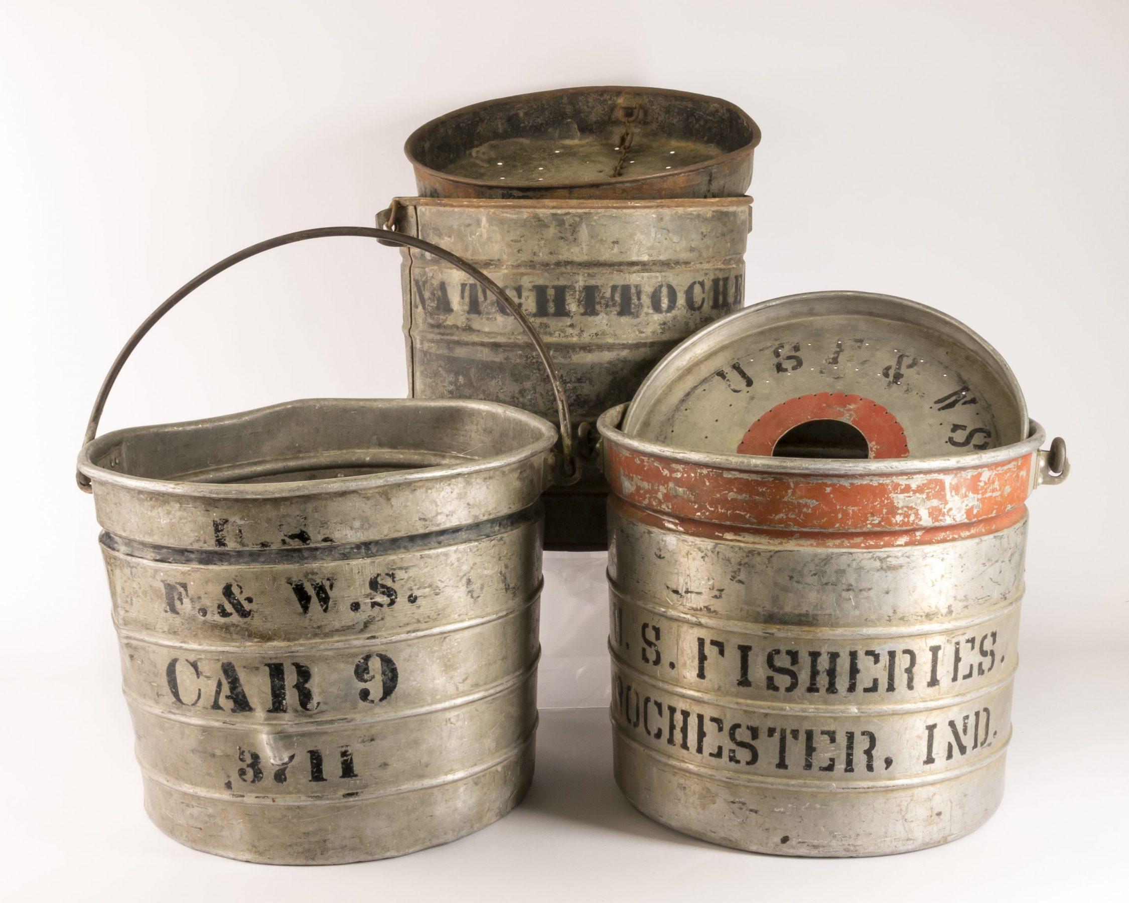 Fishermen buckets